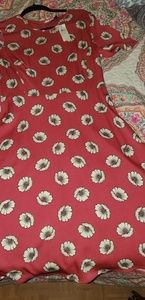 Ann Taylor pink with white flower dress